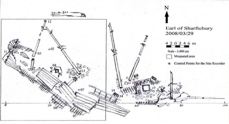 A Sketch of the wreck Earl of Shaftsbury