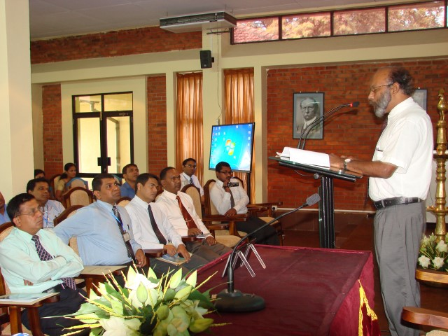 Keynote address by Prof. Raj Somadewa at The Annual Research Session 2013 of University of Sabaragamuwa, Sri Lanka