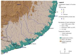 Distribution of all inventoried Dutch fortification sites – South eastern Sri Lanka (Mendis, 2020)